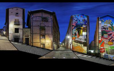 montaje fotográfico casco viejo de Gasteiz