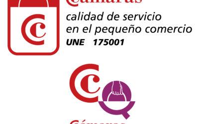 logo calidad del servicio en el pequeño comercio